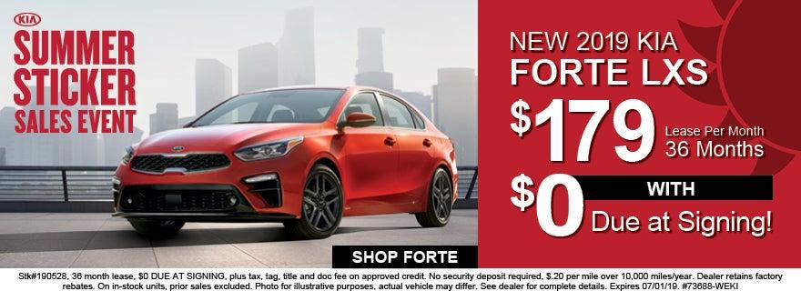 2019 Kia Forte 179 Per Month Lease